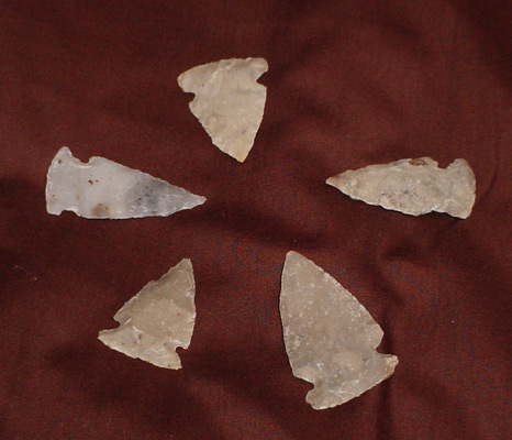 Hand Chipped Souvenir Arrowheads